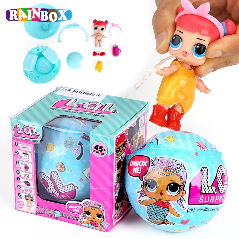 Hot Sale Brazil 9.5cm Surprise Doll Dress LOL SURPRISE DOLL Baby Tear Open Change Egg Toys For Children Gift XY1560 hot sale 1000g dynamic amazing diy educational toys no mess indoor magic play sand children toys mars space sand
