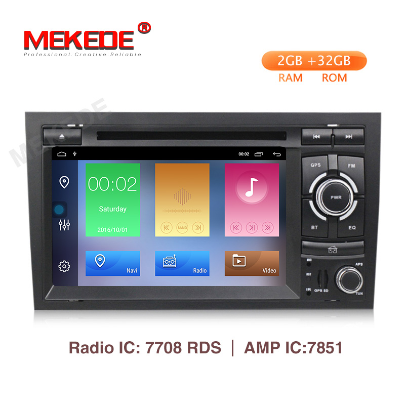 Lecteur multimédia de voiture MEKEDE 2 Din Android 9.1 pour Audi A4 B6 B7 S4 B7 B6 RS4 B7 SEAT Exeo lecteur dvd radio WIFI BT CARPLAY PC