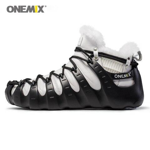 ONEMIX Winter Outdoor Walking Shoes for Men Mountain Boots Warm-full Women Climbing Shoes Men Sport Sneakers in Black Shoes Karachi