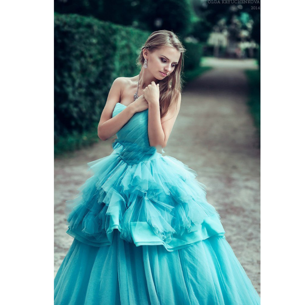 Princess Green Puffy Ball Gowns Vintage Long Prom Dresses Fast ...
