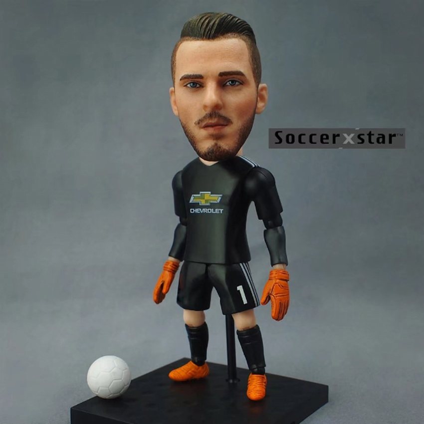 quality design 598d2 8eaed US $25.99  1Pcs Football star Soccer Star Figures 1# DE GEA MUFC 12cm&5in  Height Action Dolls Figurine-in Dolls from Toys & Hobbies on Aliexpress.com  ...