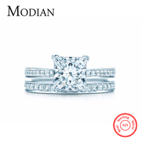 2016 New Ranbow Jewel Real 925 Sterling Silver Wedding Ring Engagement Jewelry Fasion AAAAA 2Ct Zircon