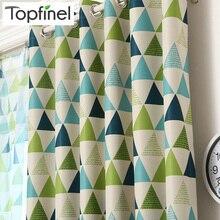 Blackout Curtains Customsize Geometric Bedroom Living-Room Topfinel Baby Children Luxury