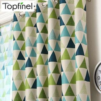 Nuevo Finel superior cortinas opacas geométricas para dormitorio sala de estar sala de niños elegantes cortinas gruesas de ventana para bebé
