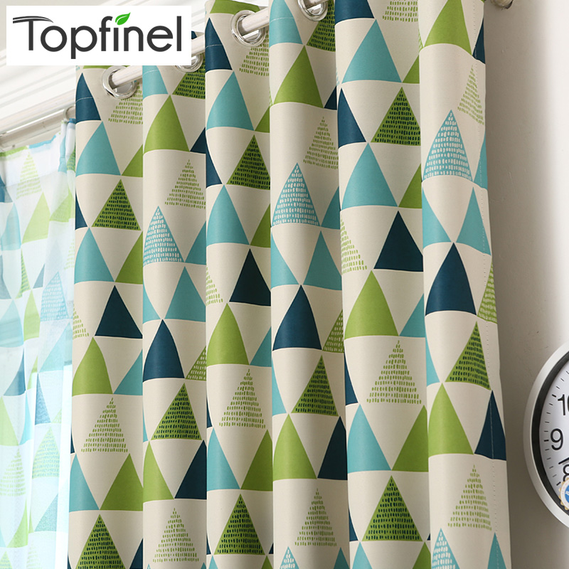 Top Finel Brand New Geometric Blackout Curtains For Bedroom Living Room Children Room Luxury Elegant Thick Window Curtains Baby
