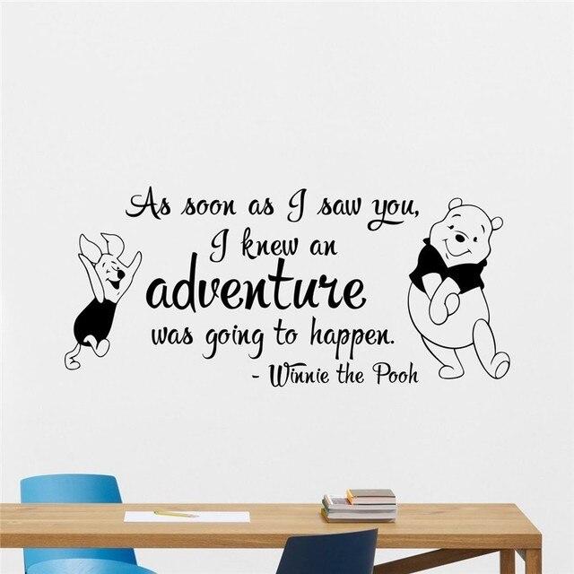 Freies Verschiffen Winnie The Pooh Wandtattoo Zitat Schriftzug Vinyl ...