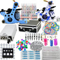 Starter Tattoo Kit 40 Inks 2 Machine Guns Grips Needles Tips Power Set Equipment Supplies for beginners (USA warehouse)K201I1