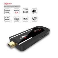 H96 pro Mini PC Android 7.1.1 os amlogic s912 1.5 GHz octa Core 2.4g WiFi bt4.1 TV dongle 2G ram 16G ROM 1080 p 4 K HD Sticks para televisión