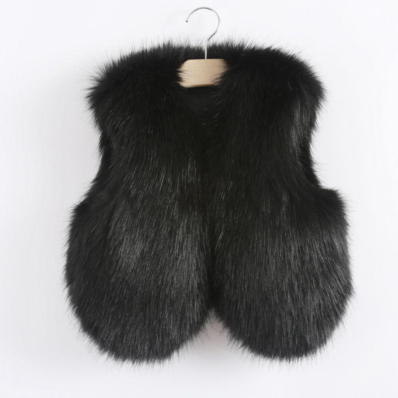 Popular Girls White Faux Fur Vest-Buy Cheap Girls White Faux Fur