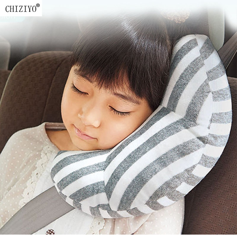 Car Seat Sleep Neck Pillow Head Protector Belt Neck Nap Aid Protect Soft Headrest Support Holder CHIZIYO