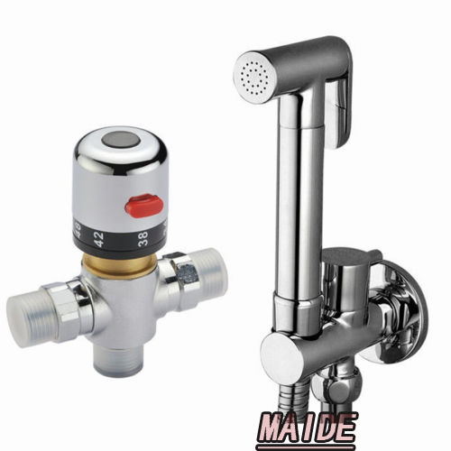 thermostatic mixing valve brass toilet hand held bidet spray shattaf sprayer shower set jet. Black Bedroom Furniture Sets. Home Design Ideas