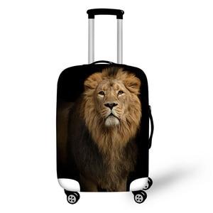Bagażu pokrywa dla 18-32 cal walizka lew wilk drukuje pokrywa bagażu wysokiej elastyczna tkanina pokrywa tani bagaż pokrywa