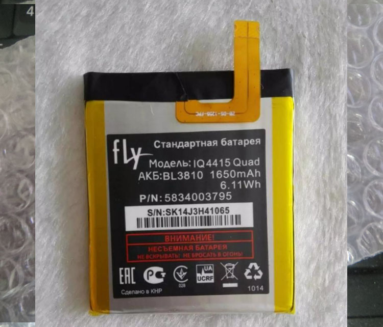 High Quality For FLY BL3810 New Mobile Phone Lithium Original iq4415 manufacturers spot direct foreign trade Battery Replacem