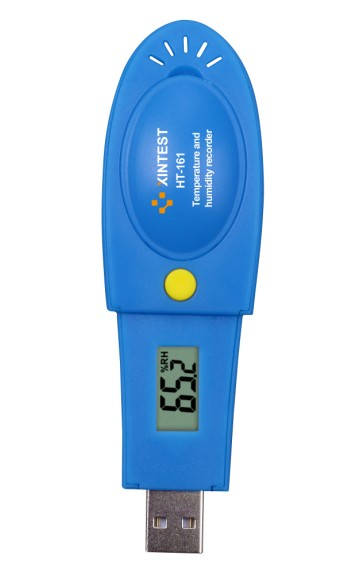 HT-161 Newest USB data logger humidity and temperature with LCD display HT161 -40~105C 21000 readings Memory xintest ht 160 professional usb pen temperature and humidity data logger