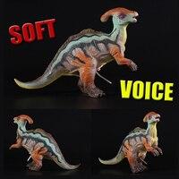 Jurásico Dinosaurios de Juguete De Vinilo Suave con Voz misteriosa Rex Triceratops Tyrannosaurus Figura de Acción de Muñeca de Peluche Para Niños El Mejor Regalo