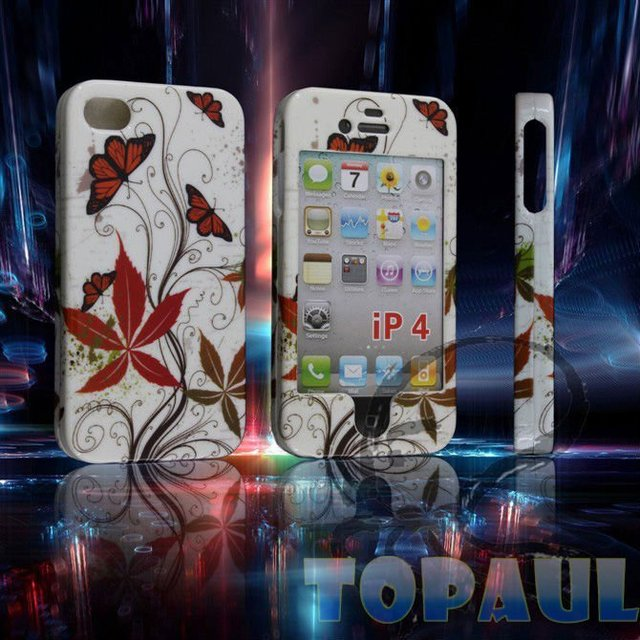 Mobile phone case for iPhone4/4G, 2011 New Design, free shipping