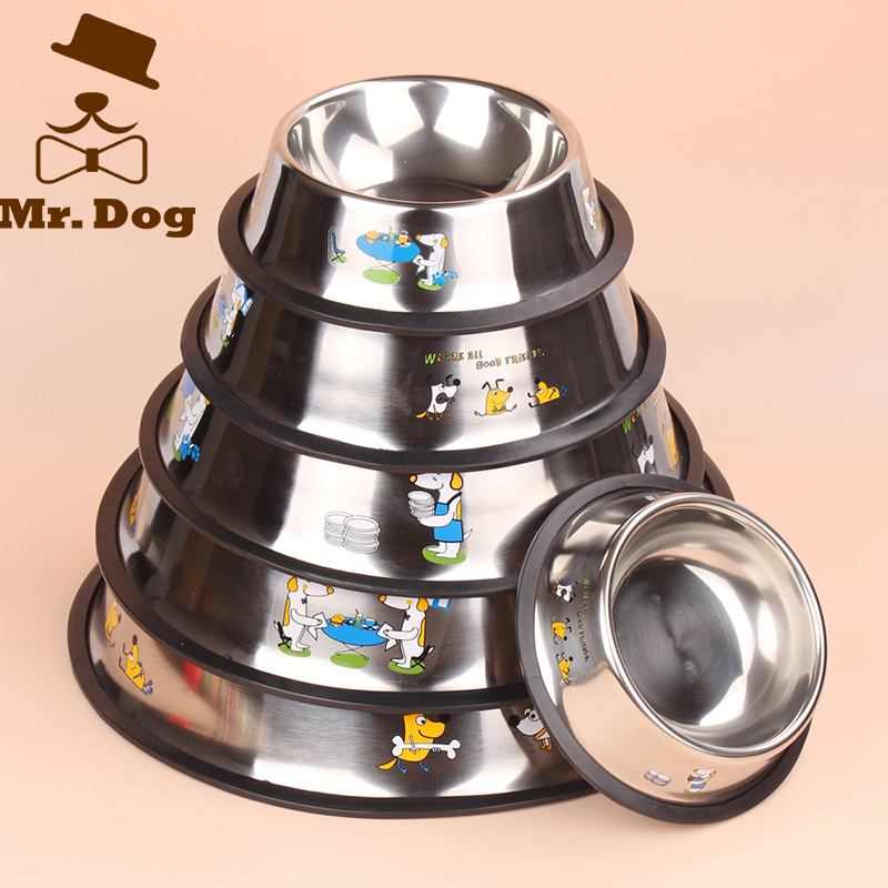 Stainless Steel Dog Bowls Pet Food Storage Container Non Skid Multi