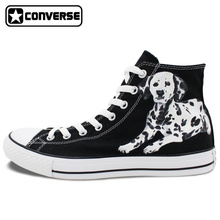 Dalmatian Dog Pet Original Design Converse All Star Women Men Shoes Hand Painted Shoes Black High Top Man Woman Sneakers Gifts