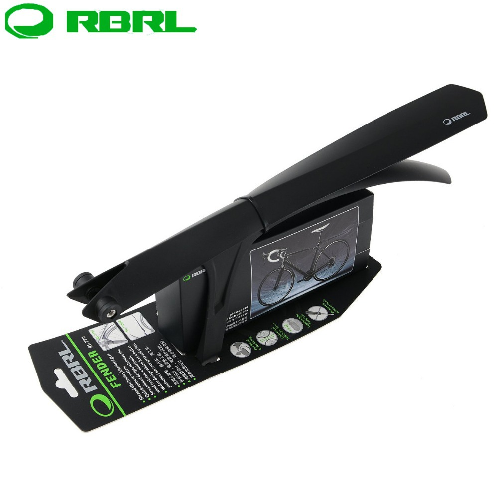 RBRL 700c x 23 35mm Bicycle Fenders 26 Mountain Bike Front Rear Mud Guards MTB Road Bike Mudguard Sets Cycling Parts Black