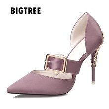 2019 Brand high heels Mary Janes women pumps Fashion pointed