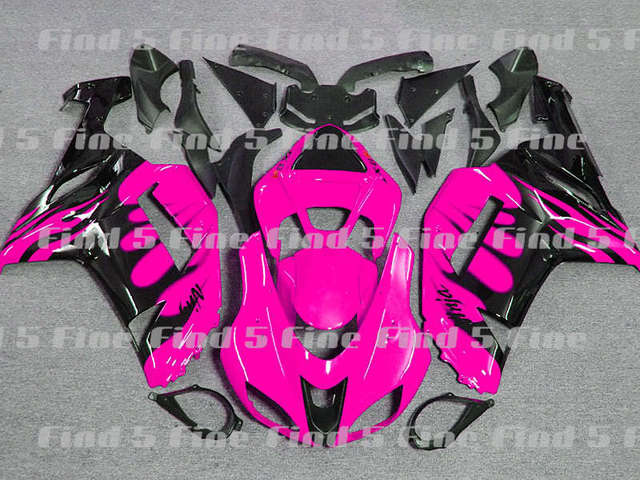 Black Flame Pink For KAWASAKI Ninja ZX 6R 07 08 ZX6R