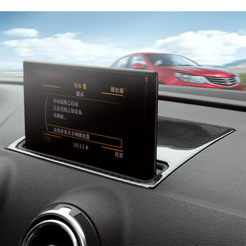 Carbon Fiber interior Trim navigation Decorative panels for Audi A3 S3 2014up LHD