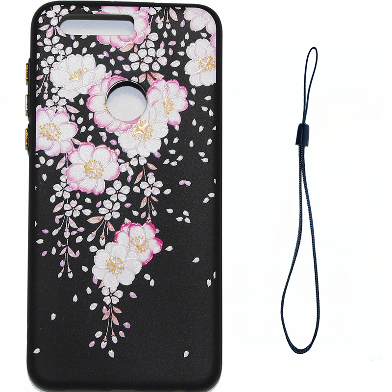 3D Relief flower silicone case huawei honor 8 (11)