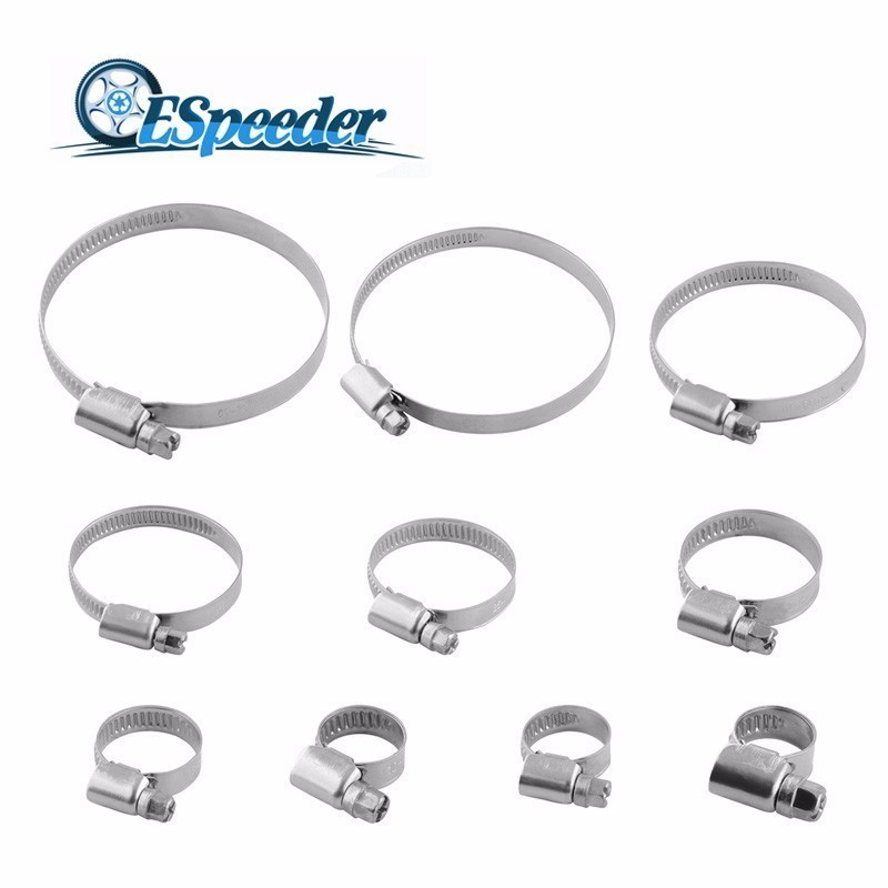 Stainless Steel Drive Hose Clamp Tri Clamp Adjustable Screw Band Fuel Line Pipe Worm Gear Clip Clamp Tube Fasterner Spring Clip