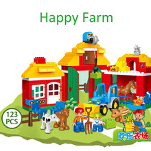Happy Farm 123 anak Puzzle Blok Mainan(China)