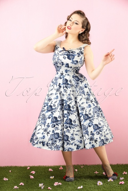 vintage 50s Maddison Toile Floral rockabilly peter pan collar sleeveless swing  midi dress plus size 4xl vestidos pinup dresses 93d7243d1a44