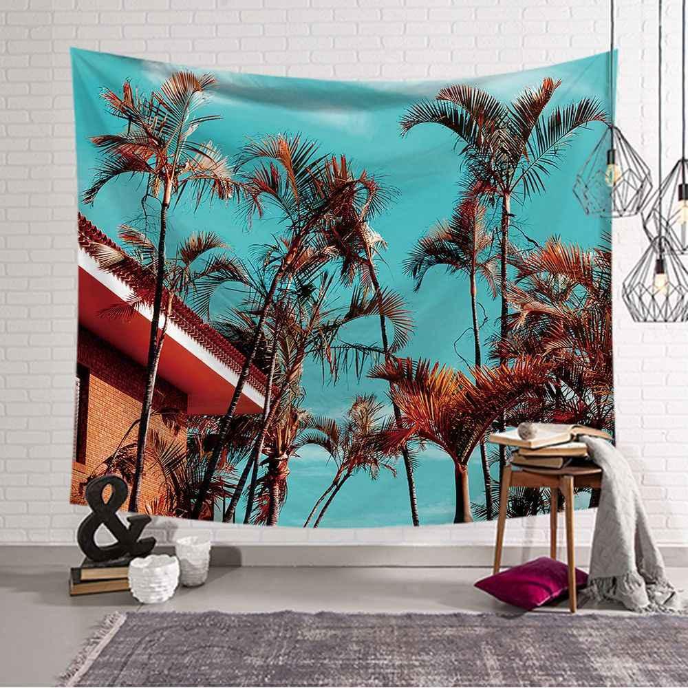Ponad milion osób powiedziało w zeszłym miesiącu, że Camping pad kokosowe drzewo na ścianie wisi gobelin czeski gobelin do spania Mad yoga mat 150*200 cm gobelin ścienny