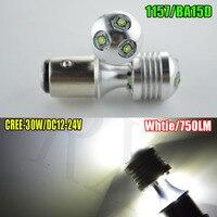 1pcs 1157 BAY15D P21 5W 30W C REE LED 750LM Car Taillight Bulb Tail Brake Lights