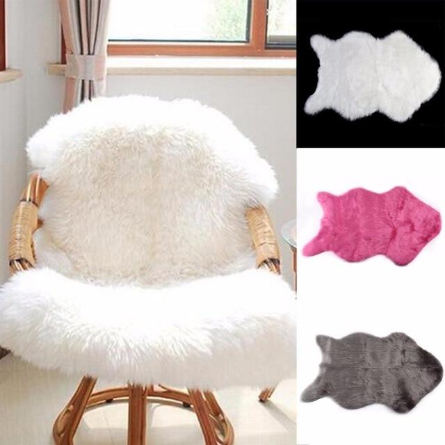 OUTAD 60x40cm Super Soft Sheepskin Washable Seat Cushions