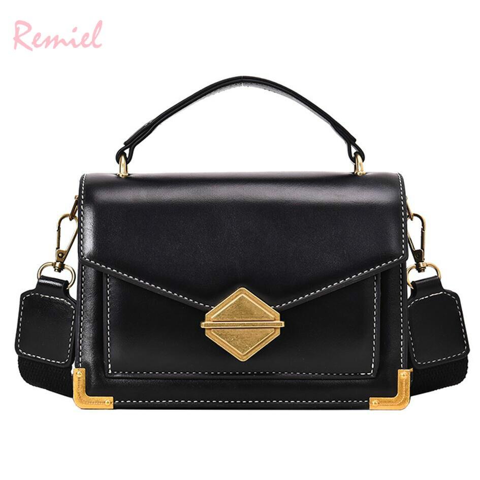 Luxury Handbag Vintage Fashion Tote bag 2019 New High Quality PU Leather Women's Designer Handbag Lock Shoulder Messenger Bags