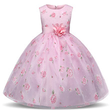 Princess Flower Dress for Girls Baby Girl Clothing First Communion Graduation Holiday Kids Clothes Children Costume Wedding Gown(China)