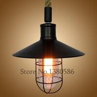 Vintage Pendant Lamp Loft Iron Glass Style Home Lighting Living Room Bed Room Iron Suspension Light fixture E27 Lamps Base