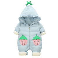 Cute Cartoon Strawberry Baby Rompers Novelty Cotton Baby Boys Girls Rompers Stitch Baby's Sets Kigurumi Newborn Clothes