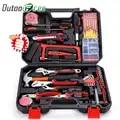 Accueil outils de réparation ensemble tournevis embouts ensemble pinces douilles clé à molette scie marteau outils ménagers Kits outils à main boîte