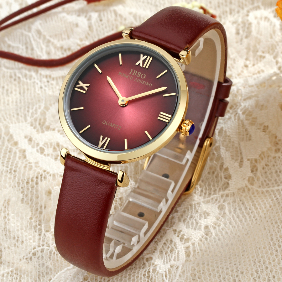 все цены на Women Watch Top Brand IBSO Luxury Fashion Casual Quartz Unique Stylish Watches Leather Sport Lady Wristwatches 30m Waterproof онлайн