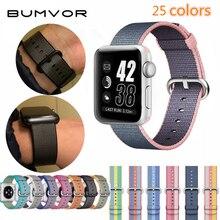 fashion Woven Nylon Watchband Woven Nylon strap band for apple watch band 42 44/38 40mm sport bracelet 4/3/2/1 watchband wat