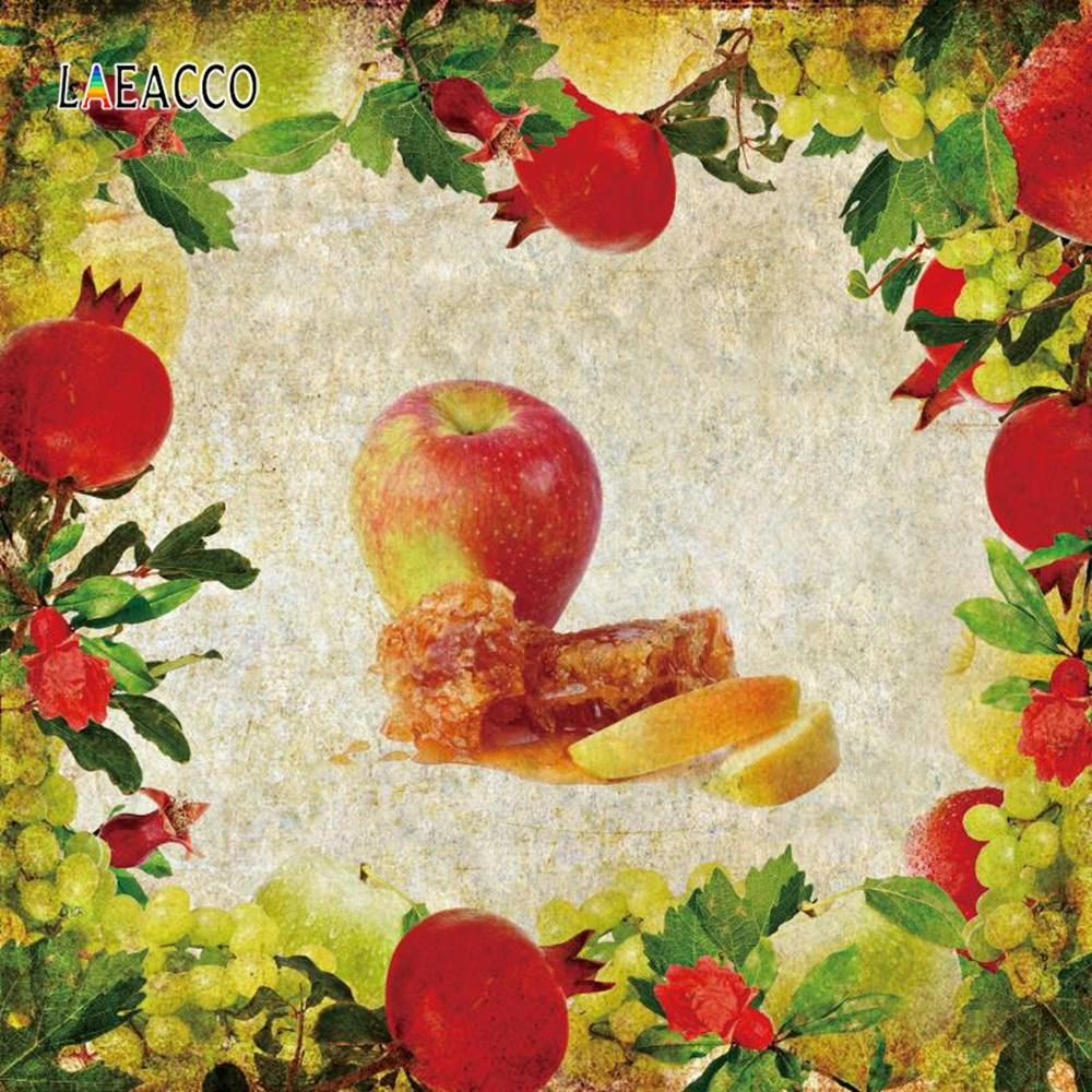 Laeacco Jewish New Year Backgrounds Honey Apple Leaves Baby Photography Party Scene Photographic Backdrop For Photo Studio in Background from Consumer Electronics