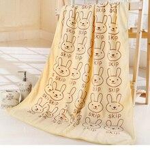 Thickening cute cartoon water absorbing bath towel bathrobe 140*70cm free shipping
