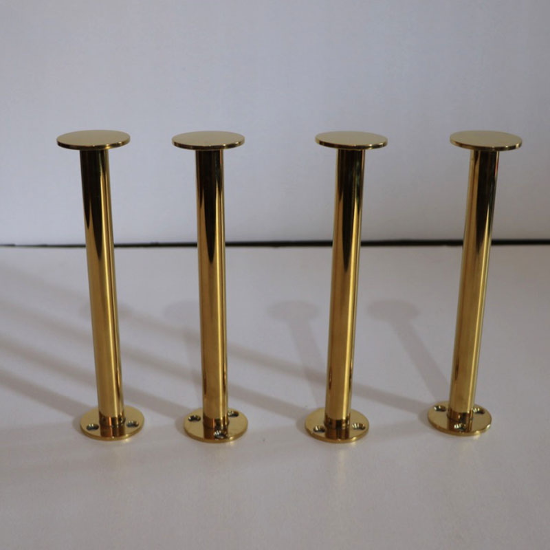 4pcs/lot Gold Stainless Steel Cabinet Legs 22CM TV Cabinet Holder Furniture Leg Cupboard Legs