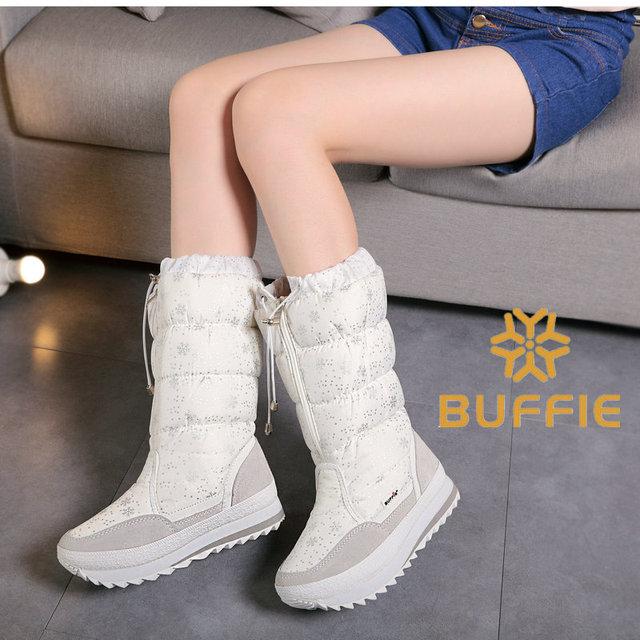 Buffie зима горячий продавать женские ботинки женщин четыре цвета белый черный серый и военно-морского флота botas горячие продажи в китае бренд зима сапоги
