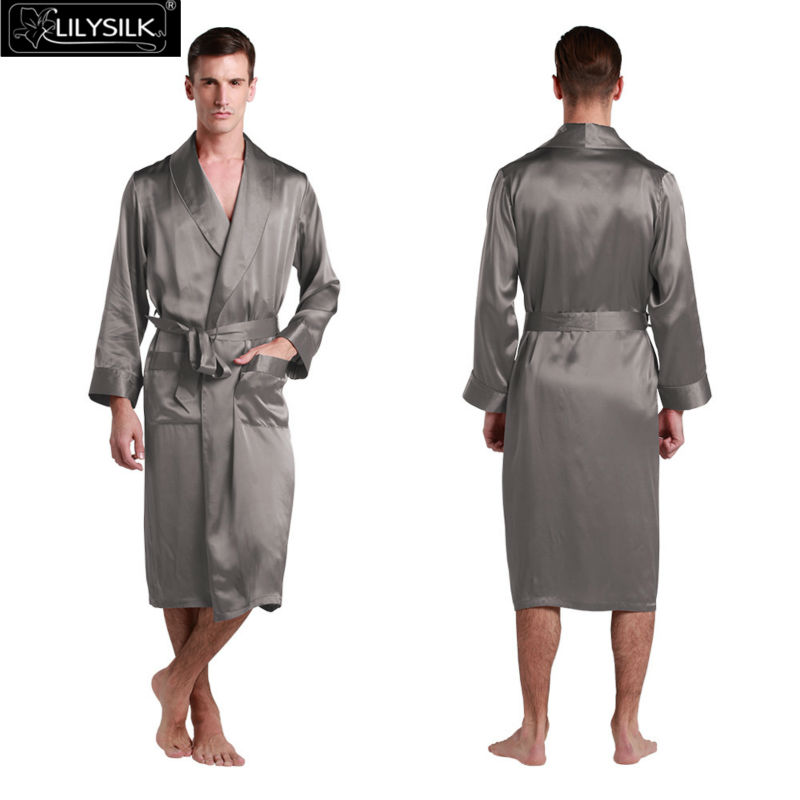 1000-dark-gray-22-momme-lapel-collar-long-silk-dressing-gown