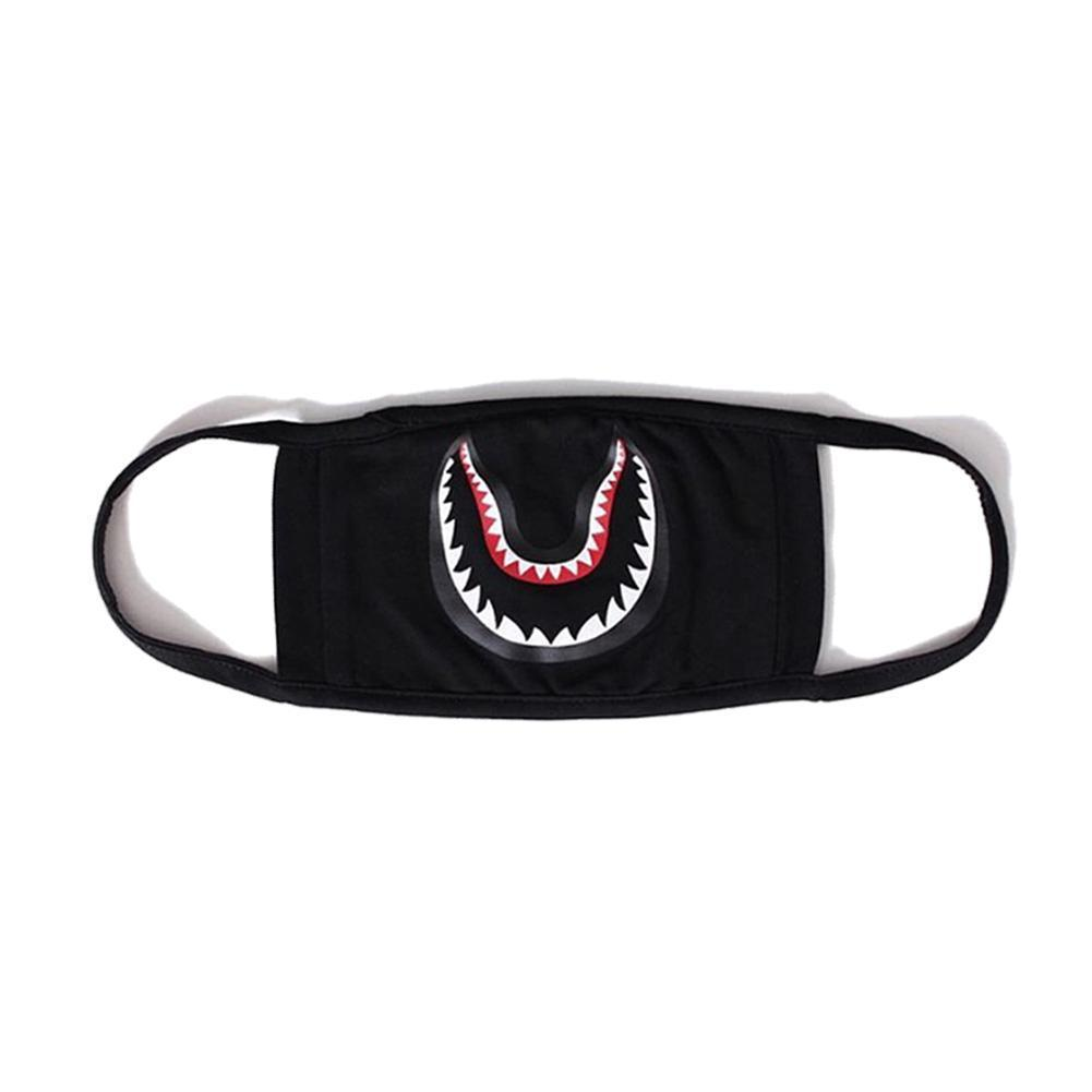 Men's Top Fashion Accessories Shark Mask Cotton Camouflage Shark Mask Sports Outdoor Face Guard Cartoon Dust-proof Masks