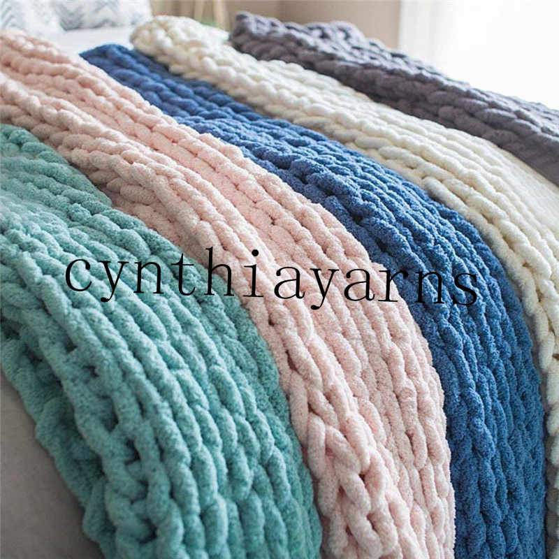 22f904e0b8e ... wholesale super thick arm knitting chunky chenille yarn polyester  chenille yarn blanket yarn 4pieces lot ...