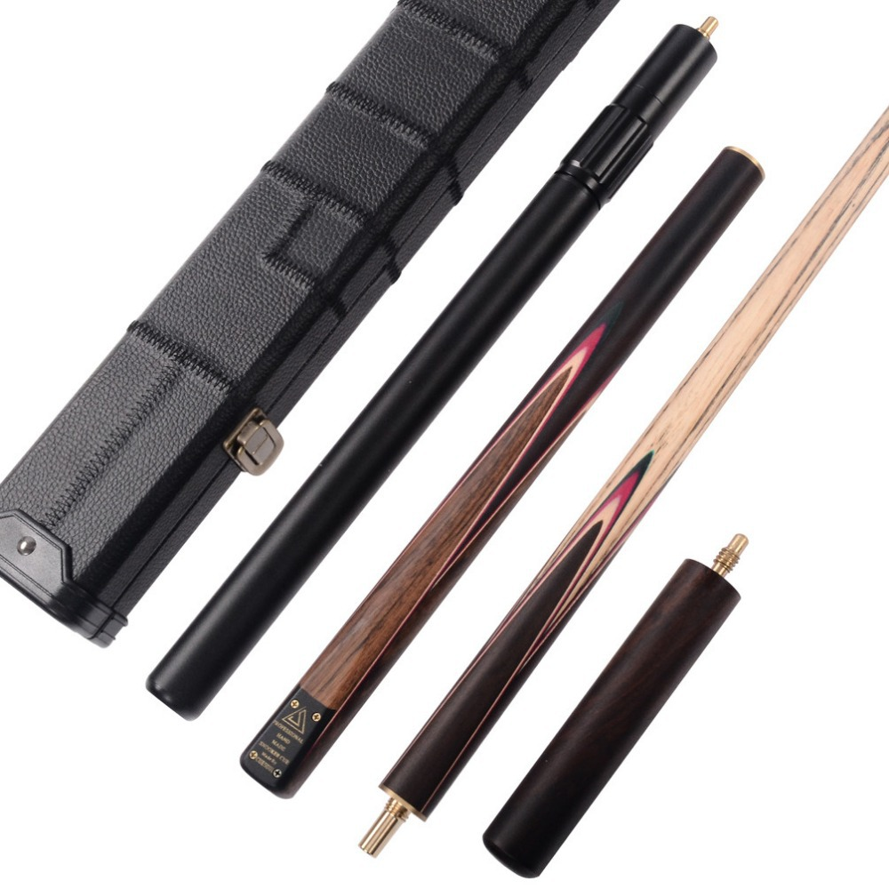 CUESOUL Classic Handmade 57 Inch Rosewood 3/4 Piece Snooker Cue +Black Cue Case and Cue Extension cuesoul classic handmade 57 inch rosewood 3 4 piece snooker cue black cue case and cue extension