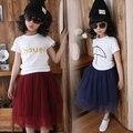 2016 весной и летом девушки юбки возраст 4-12 тюль детская одежда дети юбки ребенок пышная юбка крышка колено K-1505
