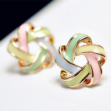 2016 New Fashion Novel Jewelry Color Stripe font b Earrings b font For Women Trendy Brincos